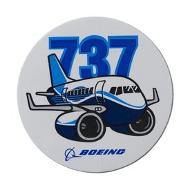 The Boeing Store 737 Pudgy Plane Sticker