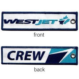 avworld.ca Key Chain Westjet New Livery CREW Embroidered