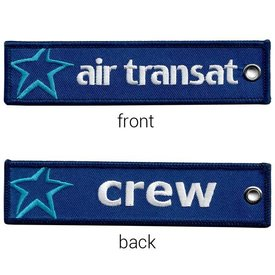KEY CHAIN AIR TRANSAT CREW EMBROIDERED