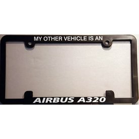 avworld.ca Licence Plate Frame My Other Vehicle is an A320