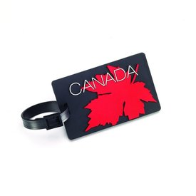 Samsonite Luggage Tag Maple Leaf Red/Black