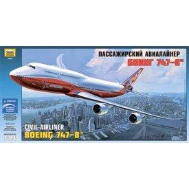 Zvesda B747-8I intercontinental Boeing House Livery Orange 1:144
