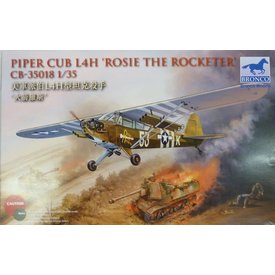 Bronco Model Kits BRONCO Piper Cub L4H/059 'ROSIE THE ROCKETER' 1:35