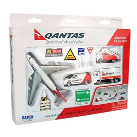 Playset Airport QANTAS 14 Piece