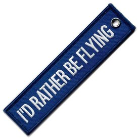 avworld.ca Key Chain I'd Rather Be Flying - Blue AW