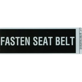 Aircraft Placard Fasten Seat Belts