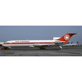 JCWINGS B727-200 Air Canada (Red Strip Livery) C-GYNE 1:200 With Stand