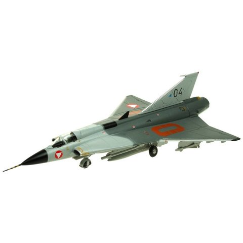 J35 Draken Austrian Air Force 04 silver 1:72 with stand