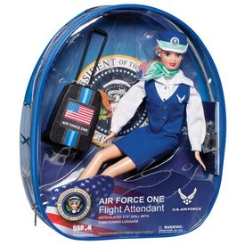Daron WWT Air Force One Flight Attendant Doll with luggage and small backpack