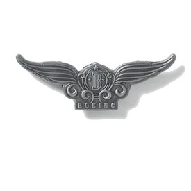 Boeing Store PIN BOEING WINGS STYLIZED PEWTER