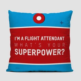 Airportag I'm A Flight Attendant Throw Pillow