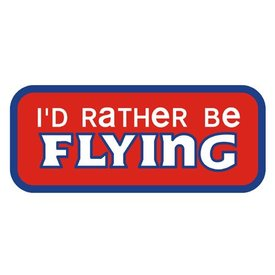 PATCH I'D RATHER BE FLYING