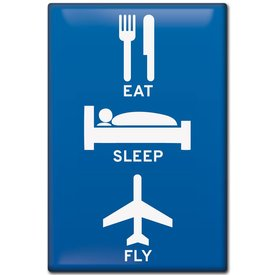 Magnet Eat, Sleep, Fly