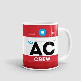 Airportag AC Mug Air Canada Crew