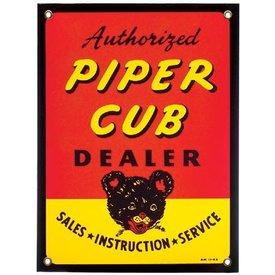 Tin Sign Piper Cub Dealer