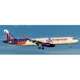 JCWINGS A321S Hong Kong Express Reward U B-LEA Sharklets 1:200 with stand