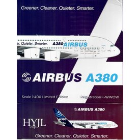 HYJL Wings A380-800 Airbus House Livery Greener, Cleaner F-WWOW 1:400
