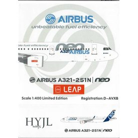HYJL Wings A321neo Airbus House Livery CFM LEAP unbeatable fuel efficiency D-AVXB 1:400