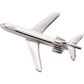 Pin Boeing 727 (3-D cast) Silver Plate