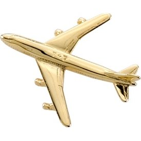 Pin Boeing 747 (3-D cast) Gold Plate