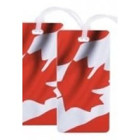 Luggage Tag Canada Plastic Set Of 2