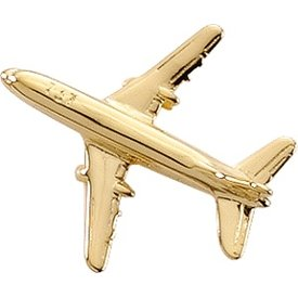 Pin Boeing 737 (3-D cast) Gold Plate