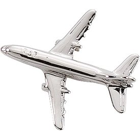 Pin Boeing 737 (3-D cast) Silver Plate