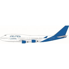 JFOX B747-400 United Charter N194UA 1:200 with Stand