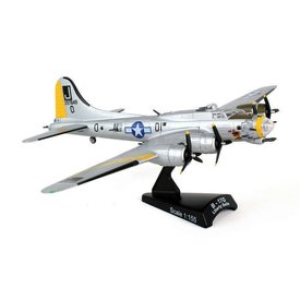 Postage Stamp B17G Flying Fortress USAAF Liberty Belle J Silver Yellow J 1:155 with stand