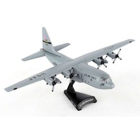 Postage Stamp C130H Hercules USAF AMC Little Rock AFB The Rock grey 1:200 with stand