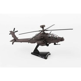 Postage Stamp AH64D Apache Longbow US Army 1:100 with stand