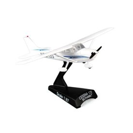 Postage Stamp C172 Cessna wavy blue cheatline 1:87 with stand