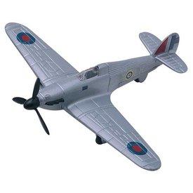 MotorMax Hurricane RAF silver diecast toy