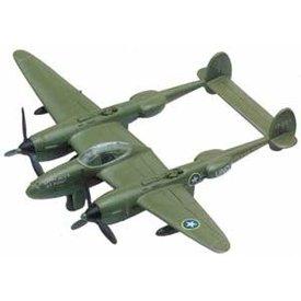 MotorMax P38 Lightning camouflage tan diecast toy