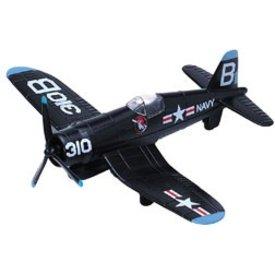 MotorMax F4U Corsair blue diecast toy