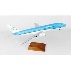 Skymarks Supreme B737-800 KLM New Livery 2014 1:100 Wood Stand with gear
