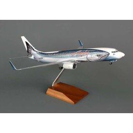 Skymarks Supreme B737-800W Alaska Salmon-3-Salmon 1:100 Supreme with gear+stand