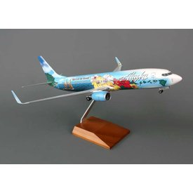 Skymarks Supreme B737-800W Alaska Spirit of the Islands 1:100 Supreme with gear+stand
