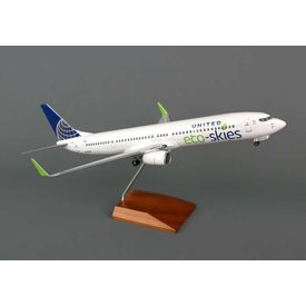 Skymarks Supreme B737-900ERW United Eco Skies 1:100 Supreme with wood stand + gear