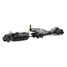 WarMaster Warmaster Sd.Kfz. 9 & Sd.Ah.116 trailer with Wingless Fw190 1:72