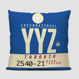 Airportag YYZ Throw Pillow