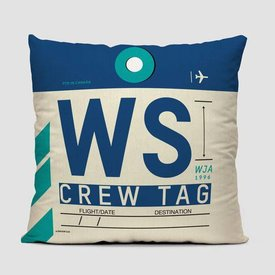 Airportag WS Throw Pillow
