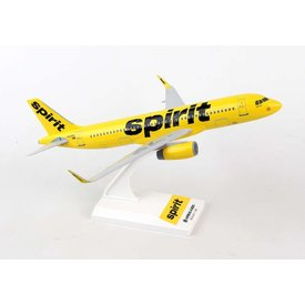 SkyMarks A320 Spirit new livery 2014 yellow / black N642NK 1:150 with stand