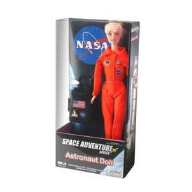 Daron WWT NASA Astronaut Doll (Female) In Orange Suit with luggage