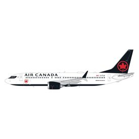 Gemini Jets B737 MAX 8 Air Canada 2017 livery C-FTJV fin 501 1:200 with stand
