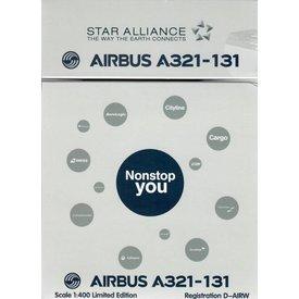 HYJL Wings A321 Lufthansa Star Alliance D-AIRW 1:400