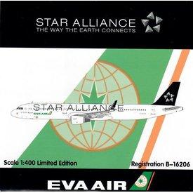 HYJL Wings A321 Eva Air Star Alliance B-16206 1:400