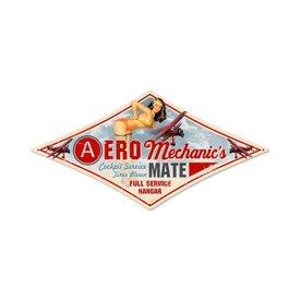 Aero Mechanic Tin Sign