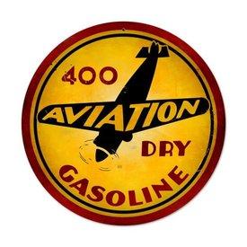 Aviation Gasoline Metal Sign