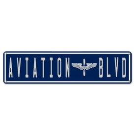Daron WWT Aviation Boulevard Metal Sign